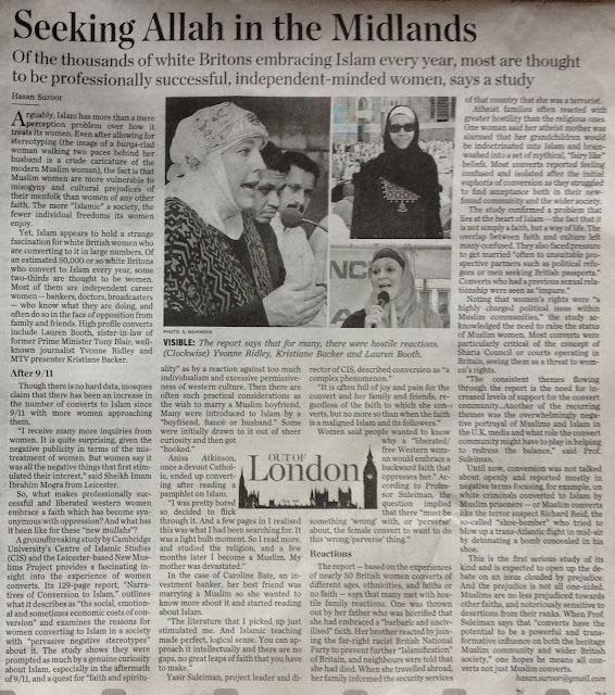 பிரிட்டனில் வருடத்திற்கு 50,000 பேர் இஸ்லாத்தை ஏற்கின்றனர் அதில் மூன்றில் இரண்டு பங்கு பெண்கள் !