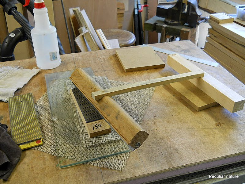 DIY sharpening jig guide diamond plate