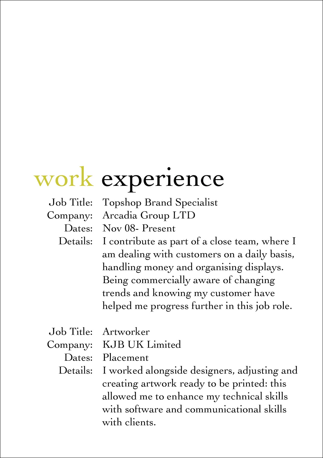 kathryn woods  cv   personal statement