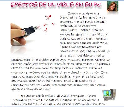 efectos de un virus en una  pc - www.dibujopinturaytecnologia.blogspot.com