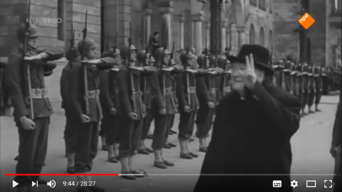 Documentary: Churchill in relation to Europe and his visite to Holland in 1946 en 1948