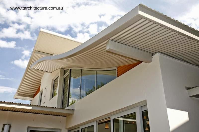 Arquitectura de casas casa doble moderna de techos curvos for Sobretechos para casas