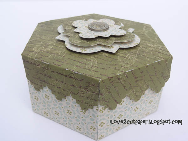 i love 2 cut paper hexagonal decorative boxes. Black Bedroom Furniture Sets. Home Design Ideas