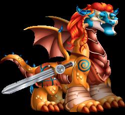 imagen del dragon espada de valor de dragon city