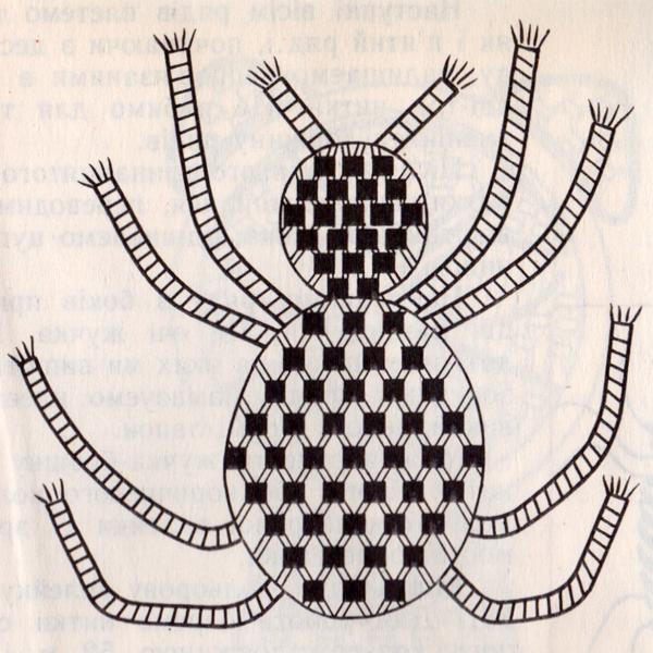 Схема плетения паука.
