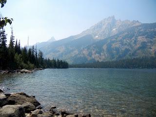 Hiking around Jenny Lake in Grand Teton National Park in Wyoming