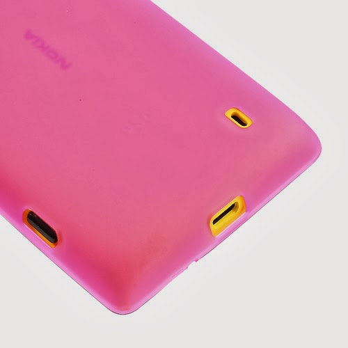 Matte Flexible TPU Jelly Case for Nokia Lumia 520 525 - Pink Transparant