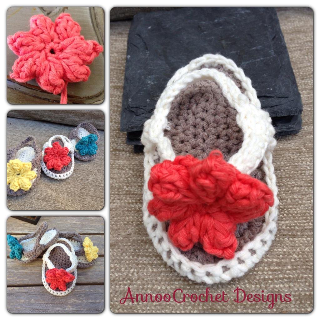 free pattern crochet baby flip flops
