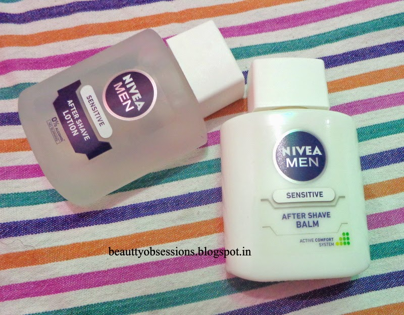 Nivea Men Sensitive Shaving Range #2 --- Aftershave Lotion & Aftershave Balm
