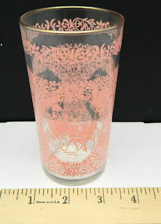 Hazel Atlas drinking glass tumbler pink