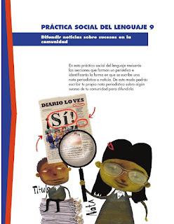 Apoyo Primaria Español 3er grado Bloque 3 lección 3 Práctica social del lenguaje 9, Difundir noticias sobre sucesos en la comunidad