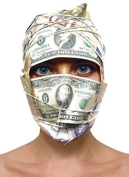 Barbora Bálková fotografia surreal máscaras Dinheiro