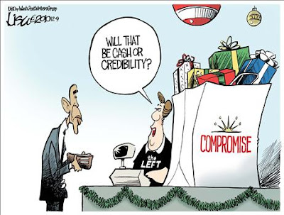 compromise%2Bor%2Bcave in%252C%2Bobamacartoon Funny Pictures: Obama Bumper Stickers, Signs & Jokes