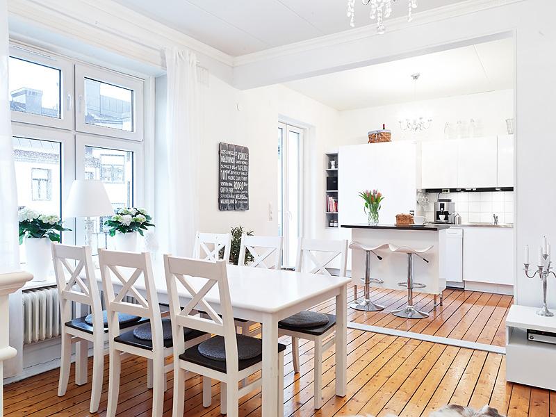 Decoraci n f cil apartamento nordico con cocina abierta for Cocina y salon abierto