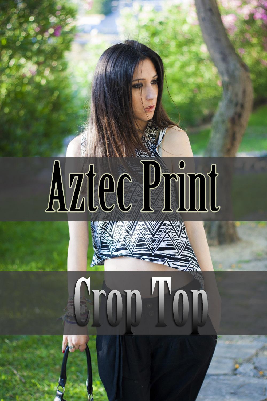 crop top estampado azteca