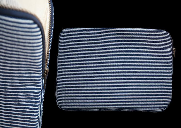 HICKORY STRIPE DENIM LAPTOP SLEEVE