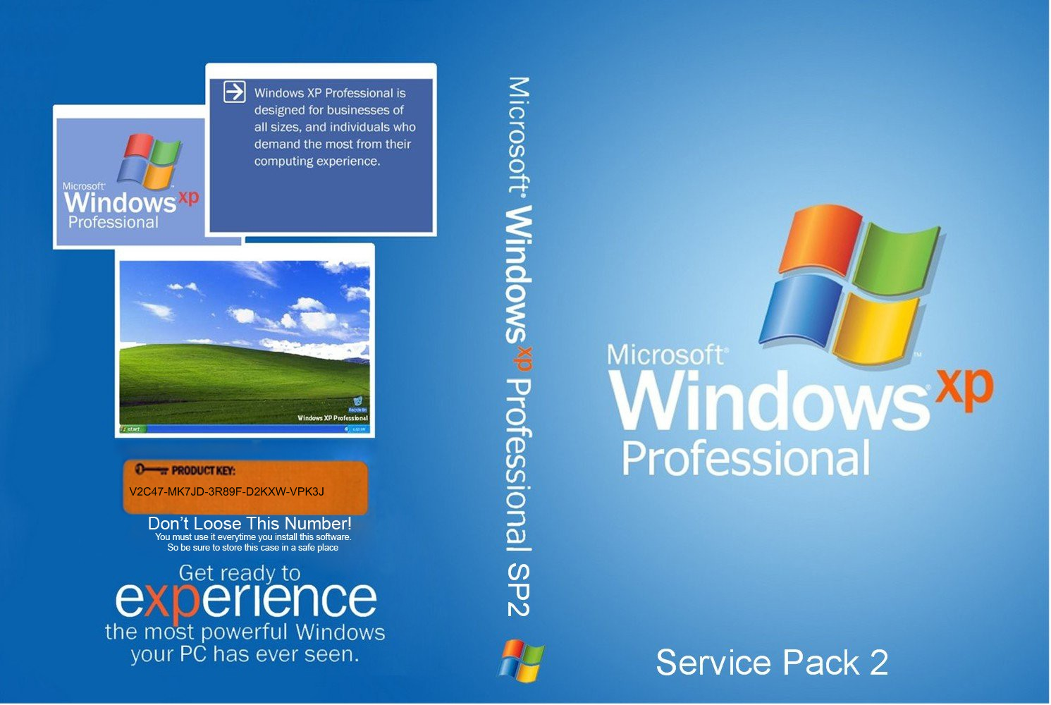 windows xp professional sp2 product key