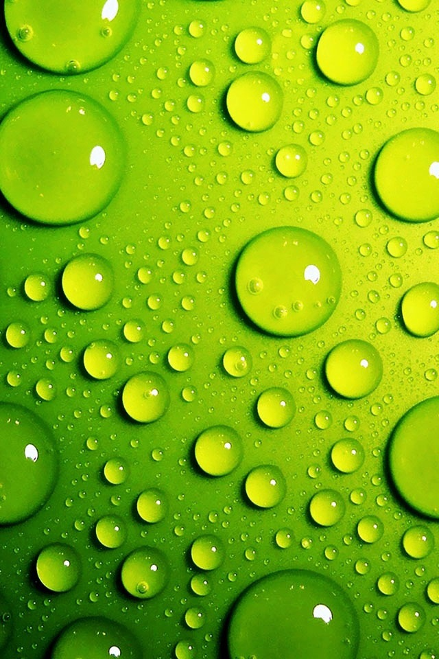 Lime green bubbles iphone 4 wallpaper pocket walls for Lime green wallpaper for walls
