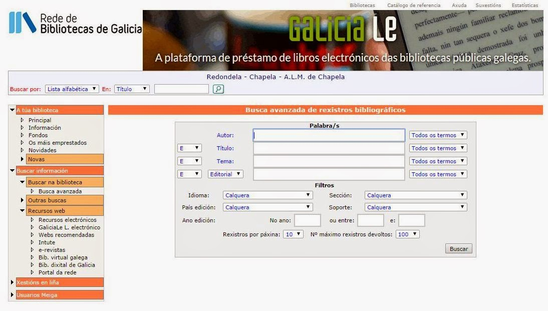 http://www.opacmeiga.rbgalicia.org/BuscaAvanzada.aspx?CodigoBiblioteca=PAM030