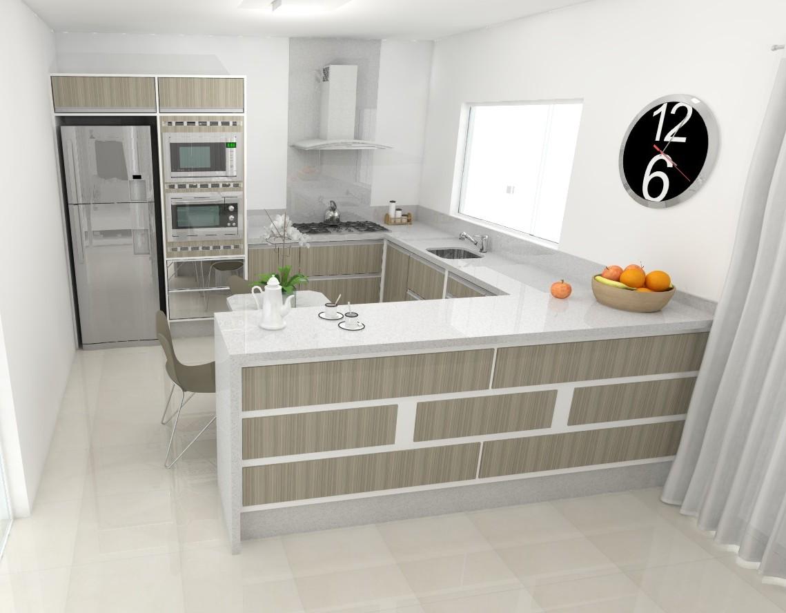 Sekai Projetos e Interiores: Sala e cozinha móveis brancos com  #AD6A1E 1139 888