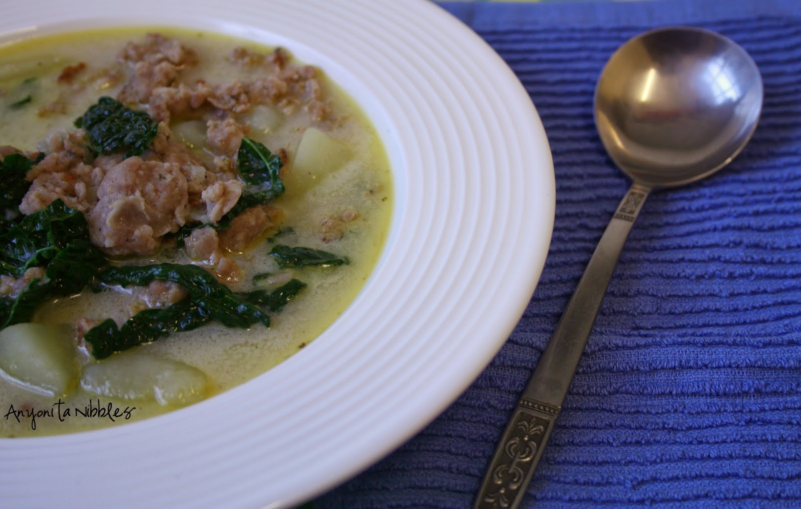 Sausage and kale and potato Tuscan soup