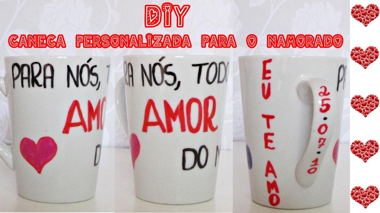 DIY - Caneca personalizada para o dia dos namorados (Faça você mesma)