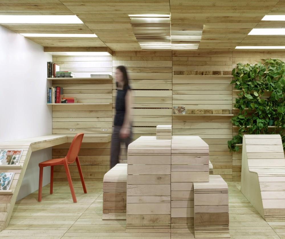 Marzua instalaci n pop up office por dubbeldam for Cafeteras oficina