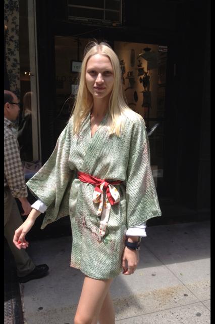 Vintage silk kimono jacket from Kimono House NY