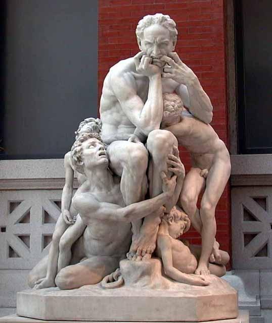 Imagen de la obra Ugolino y sus hijos de Carpeaux