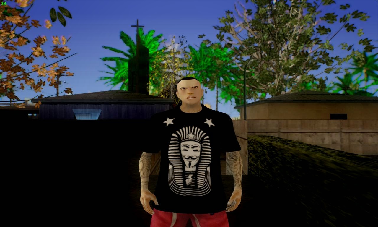 GTA SA - Roupa : Camisa Swag Anonymous