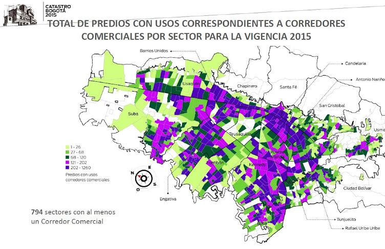 VALOR M2 para CENTROS COMERCIALES BOGOTÁ 2015