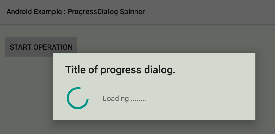How To Create A Spinner Style Progressdialog In Android