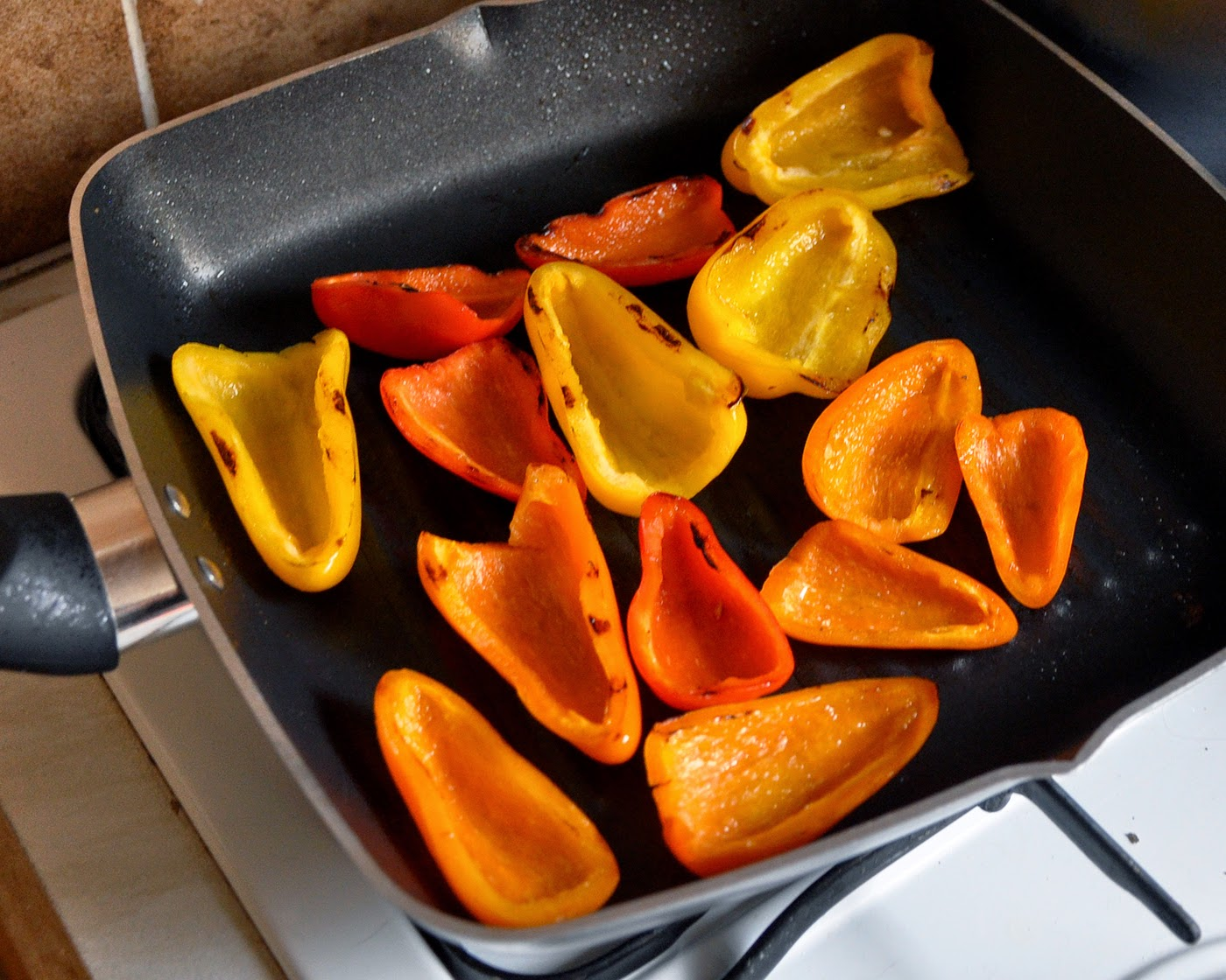 griddle mini bell peppers