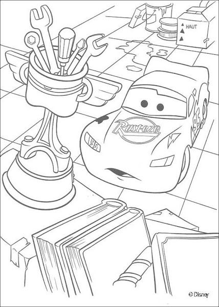 Disney Cars Movie Coloring Pages