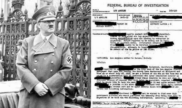 Classified FBI files claim Adolf Hitler escaped by submarine to Argentina