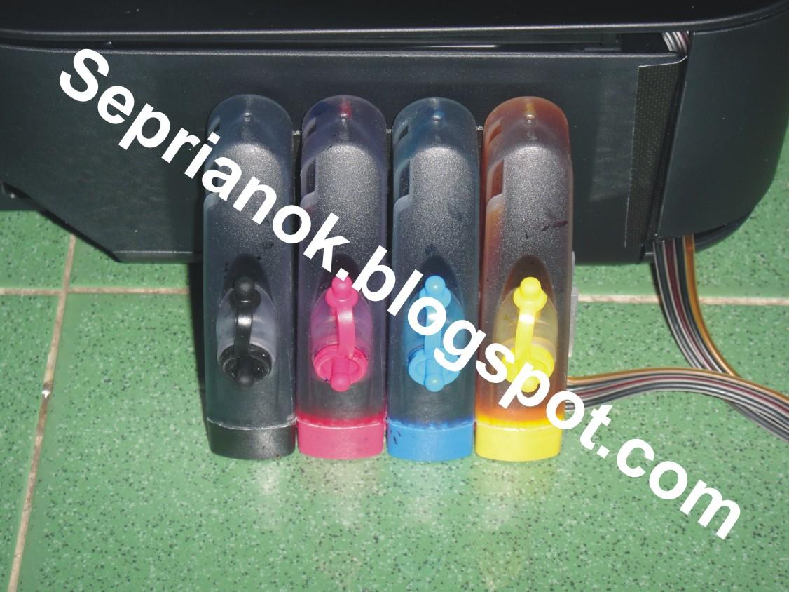 tabung infuse diletakkan di sisi kiri printer seperti pada gambar dari ...
