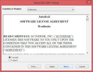 Cara Install AutoCAD 2007 Win8