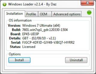 Windows Loader 2.1.4 by Daz + WAT Fix Download