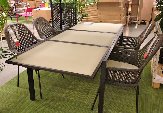 Shopping for an outdoor sectional driven by decor - Table jardin bois ikea ...