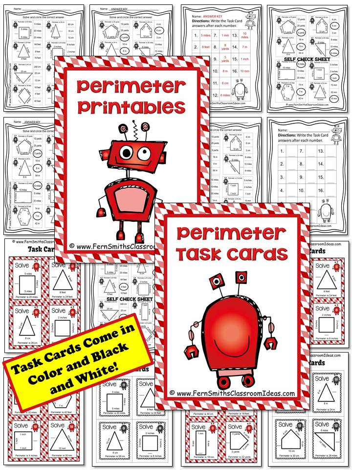 Perimeter Penny Mega Math Pack - Finding the Unknown Side for the Perimeter Printables, Task Cards and Center Game For 3.MD.D.8 at TPT.