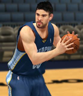 NBA 2K13 Marc Gasol Cyber Face Patch