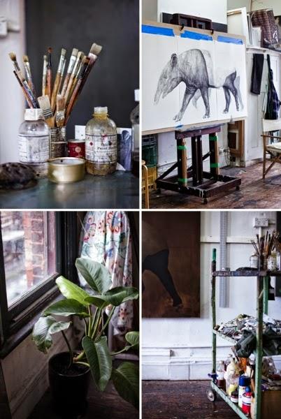 atelier rue verte le blog melbourne l 39 int rieur d 39 une artiste peintre. Black Bedroom Furniture Sets. Home Design Ideas