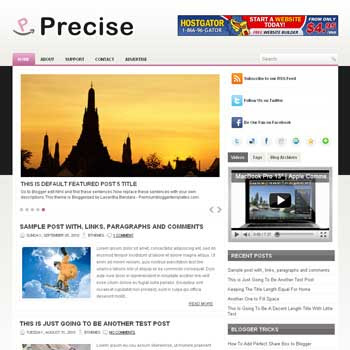 Precise blog template. template image slider blog. magazine blogger template style. wordpress theme to blogger. tutorial blogger template