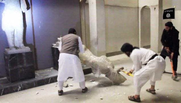 henrqkxsojmwjwib10xj - El Estado Islámico destruye piezas históricas en un museo al norte de Irak