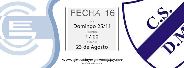 Fecha 16: Gimnasia de Jujuy vs. Deportivo Merlo