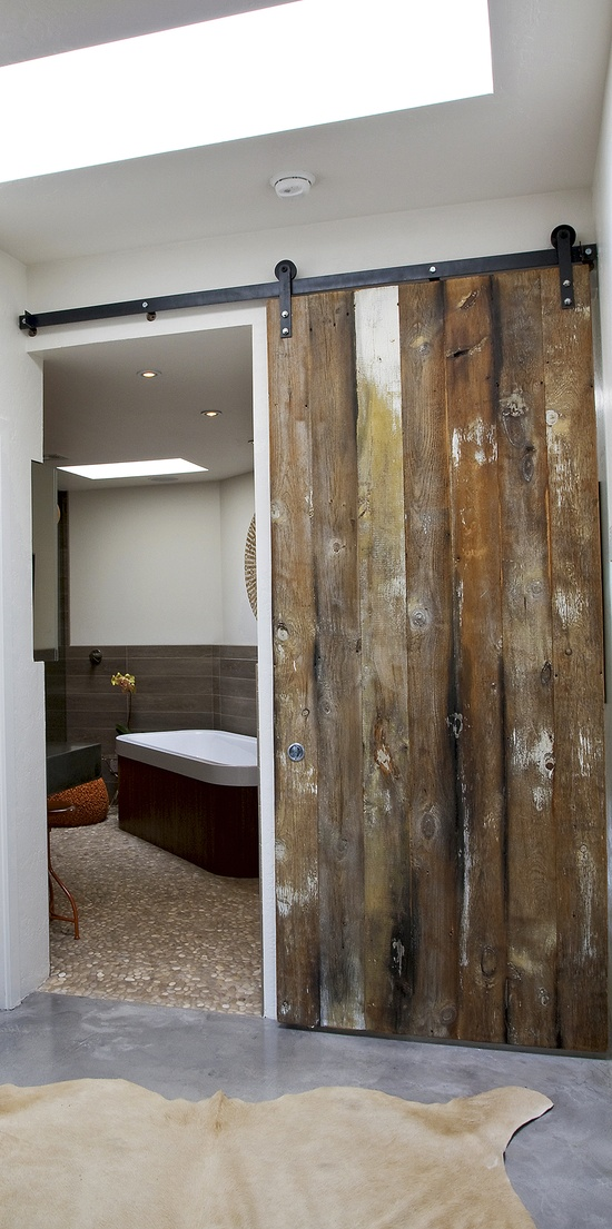 Design element with a raw distressed wood door gorgeous