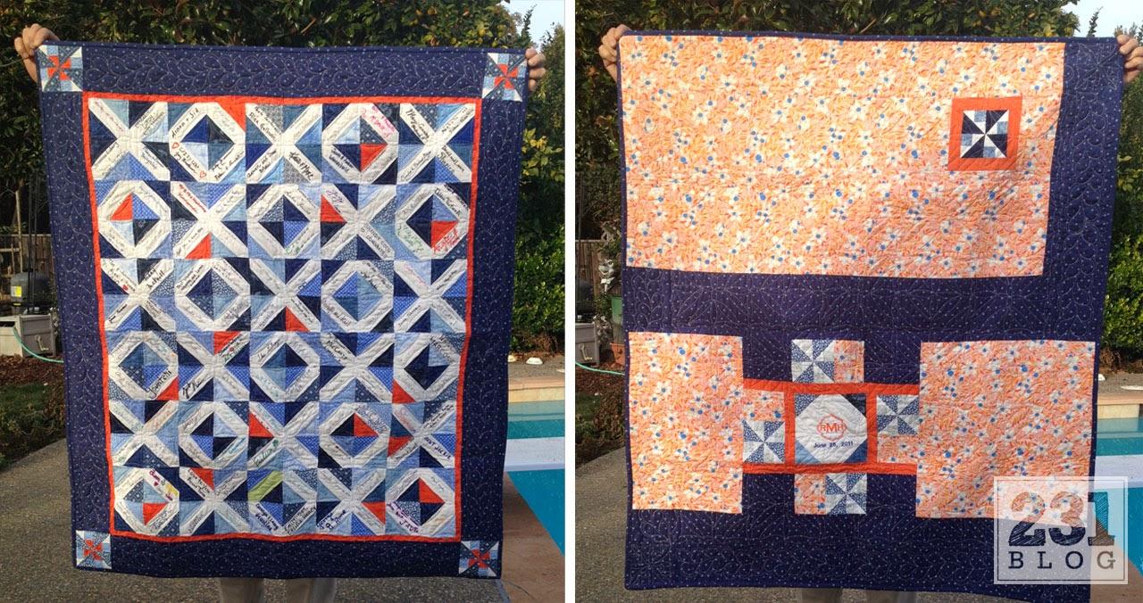 handmade quilt as a wedding gift