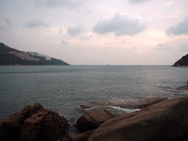Ocean harbour view from Ma Hang park, Stanley, Hong Kong