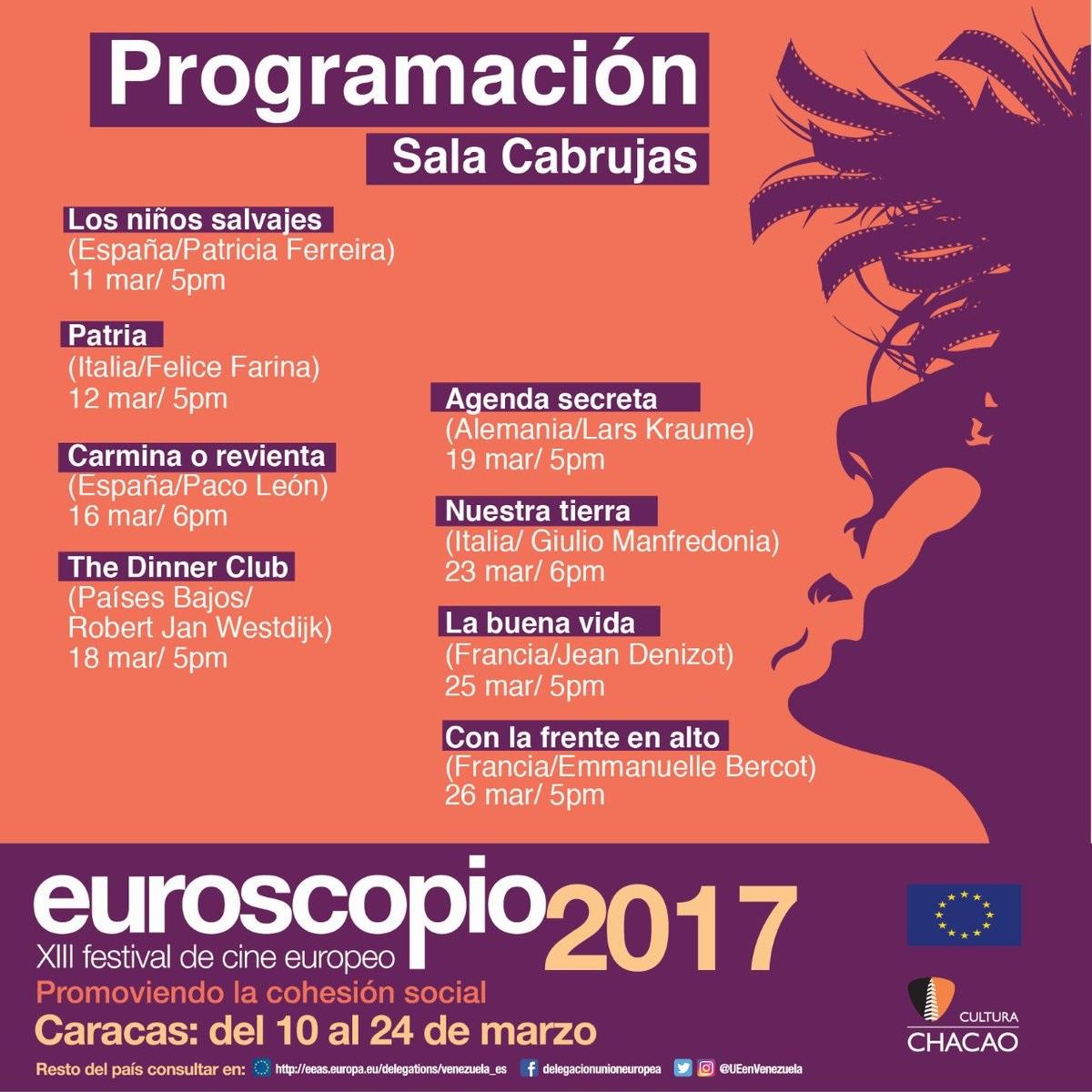 Euroscopio 2017, XIII Fstival de cine europeo, @UEenVenezuela
