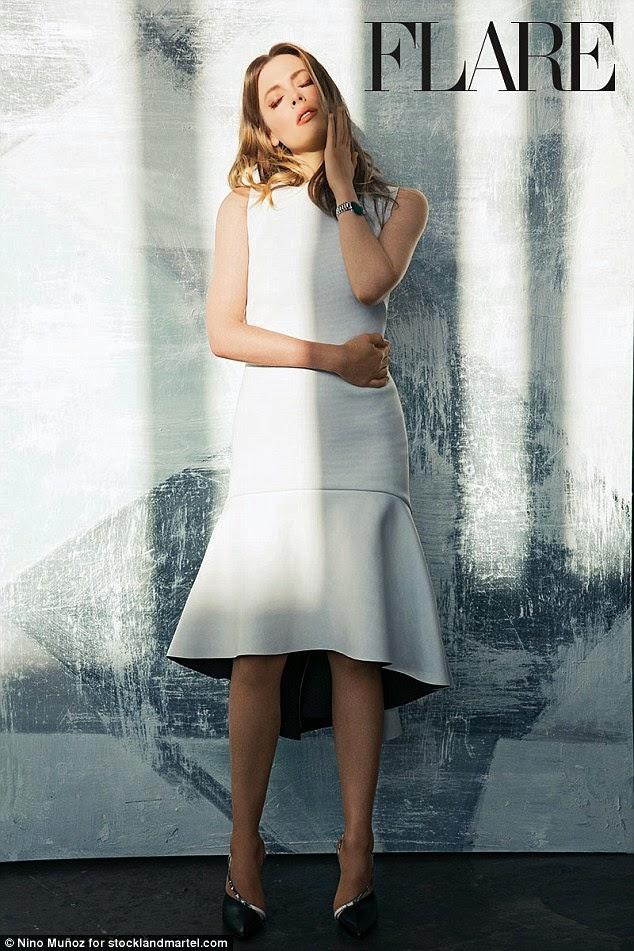 الممثلة الأمريكية جيليان جاكوبس في صور رائعة لمجلة Flare